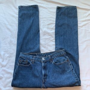 Levi's 505 Low Rise Straight Leg Jeans Size 12